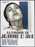 """Movie Posters:Drama, The Passion of Joan of Arc (Gaumont, R-1978). French Grande (46"""" X 62""""). Drama.. ..."""