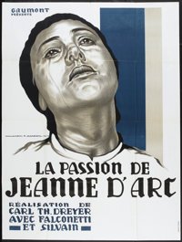"The Passion of Joan of Arc (Gaumont, R-1978). French Grande (46"" X 62""). Drama"