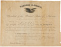 "Autographs:U.S. Presidents, Ulysses S. Grant Partly Printed Appointment Signed as President.Oversized document, 18"" x 13.5"", City of Washington, March ..."