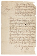 Autographs:Military Figures, [William Pitt, 1st Earl of Chatham] Early French & Indian War Decree Addressing Privateers to Refrain from Hostilities in the ...