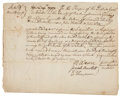 "Autographs:Statesmen, [Declaration Signer] Josiah Bartlett Document Signed as Justice ofthe Peace. One page, 8.5"" x 6.75"", Exeter NH, April 19, 1..."