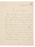 Autographs:Non-American, Composer Englebert Humperdinck Autograph Letter Signed. Two pages,in German, penned on recto and verso of first page only, ...