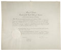 Autographs:U.S. Presidents, Harry S. Truman Document Signed as President Appointing Warren R. Austin to the Third Session of the General Assembly of the U... (Total: 5 Items)