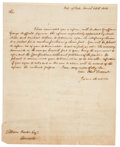 """Autographs:U.S. Presidents, James Madison Letter Signed as United States Secretary of State.Two pages including integral address leaf, 8"""" x 10"""", """"Dep..."""