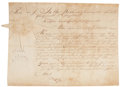 "Autographs:Statesmen, Joseph Reed Manuscript Document Signed as President of the SupremeExecutive Council of Pennsylvania appointing ""William B..."
