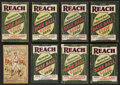 Baseball Collectibles:Publications, 1909-1916 Reach and Spalding Baseball Guides Lot of 8.... (Total: 8items)