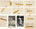 Autographs:Post Cards, Baseball Hall of Famers Signed Government Postcards Lot of 11....(Total: 15 items)
