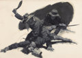 Pulp, Pulp-like, Digests, and Paperback Art, WALTER MARTIN BAUMHOFER (American, 1904-1987). Marching Madmen,Part 5, Liberty illustration, December 28, 1935. Oil on ...