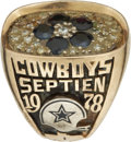 Football Collectibles:Others, 1978 Rafael Septien NFC Championship Ring....