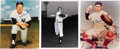 Autographs:Photos, Whitey Ford, Yogi Berra and Phil Rizzuto Signed Photographs Lot of 3.... (Total: 3 items)