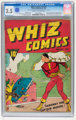 Whiz Comics #2 (#1) (Fawcett, 1940) CGC GD+ 2.5 Cream to off-white pages