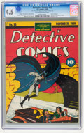 Golden Age (1938-1955):Superhero, Detective Comics #33 (DC, 1939) CGC VG+ 4.5 Off-white to white pages....