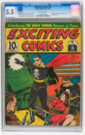 Golden Age (1938-1955):Superhero, Exciting Comics #9 (Nedor, 1941) CGC FN- 5.5 Off-white pages....