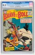 Silver Age (1956-1969):Adventure, The Brave and the Bold #4 (DC, 1956) CGC VF+ 8.5 Off-white to white pages....