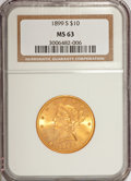 Liberty Eagles, 1899-S $10 MS63 NGC....