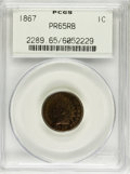 Proof Indian Cents, 1867 1C PR65 Red and Brown PCGS....