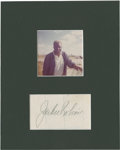 Baseball Collectibles:Photos, Jackie Robinson Signed Display....