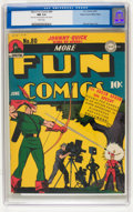 Golden Age (1938-1955):Superhero, More Fun Comics #80 Mile High pedigree (DC, 1942) CGC NM 9.4 White pages....