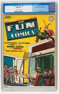 More Fun Comics #97 Mile High pedigree (DC, 1944) CGC NM+ 9.6 Off-white to white pages