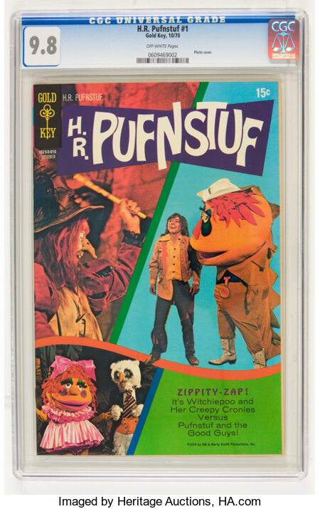 H.R. Pufnstuf #1 (Gold Key, 1970) CGC NM/MT 9.8 Off-white pages....