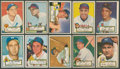 Baseball Cards:Lots, 1952 Topps Baseball Collection (73 Diff.) With Mays!...