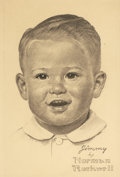 Mainstream Illustration, NORMAN ROCKWELL (American, 1894-1978). Jimmy -- the AmericanBoy, c. 1963. Pencil on paper. 9.25 x 6.25 in.. Signed lowe...