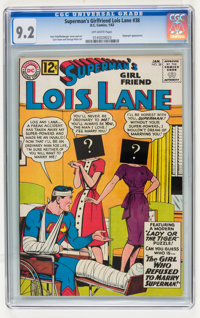 Superman's Girlfriend Lois Lane #38 (DC, 1963) CGC NM- 9.2 Off-white pages