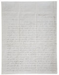 "Autographs:Statesmen, [Dolley Madison] Mary [Cutts] Autograph Letter Signed Regarding theDeath of Dolley Madison. Three and one-half pages, 8.25""..."