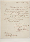 "Autographs:Statesmen, [Declaration Signer] Samuel Chase Letter Signed as AssociateJustice of the U.S. Supreme Court. One page, 7.5"" x 9.5..."