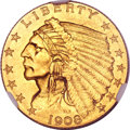 Indian Quarter Eagles, 1908 $2 1/2 MS66 NGC. CAC....