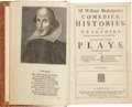 Books:First Editions, William Shakespeare. Mr. William Shakespear's Comedies,Histories, and Tragedies. Published according to the true...