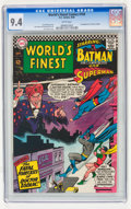 Silver Age (1956-1969):Superhero, World's Finest Comics #160 (DC, 1966) CGC NM 9.4 White pages....
