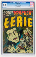 Golden Age (1938-1955):Horror, Eerie #12 Ohio pedigree (Avon, 1953) CGC VF 8.0 Off-white to whitepages....