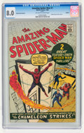 Silver Age (1956-1969):Superhero, The Amazing Spider-Man #1 Golden Record Reprint (w/o record) (Marvel, 1966) CGC VF 8.0 Off-white to white pages....
