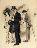 Mainstream Illustration, JAMES MONTGOMERY FLAGG (American, 1877-1960). An EveningOut. Watercolor on board. 25.5 x 19.5 in.. Signed lower left....