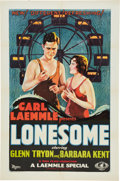 "Movie Posters:Romance, Lonesome (Universal, 1928). One Sheet (27"" X 41"").. ..."