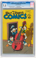 Golden Age (1938-1955):Funny Animal, Walt Disney's Comics and Stories #84 (Dell, 1947) CGC VF- 7.5Off-white to white pages....