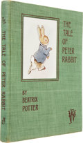 Books:First Editions, Beatrix Potter. The Tale of Peter Rabbit. London: FrederickWarne and Co., [n.d., 1902].. First published trad...