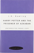Books:Children's Books, J. K. Rowling. Harry Potter and the Prisoner of Azkaban.[London]: Bloomsbury, [1999].. Uncorrected proof of t...