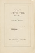 Books:First Editions, Margaret Mitchell. Gone With the Wind. New York: TheMacmillan Company, 1936.. Unbound proof copy, issued befo...