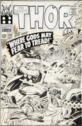 Original Comic Art:Covers, Jack Kirby and Vince Colletta Thor #132 Thor vs. theColonizers of Rigel Cover Original Art (Marvel, 1966)....