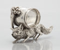 Silver Holloware, American:Napkin Rings, AN AMERICAN FIGURAL SILVER PLATE NAPKIN RING. Maker unidentified,circa 1870. Marks: R.I. & Co, 331. 3 x 4-5/8 x 1-7/8i...