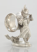 Silver Holloware, American:Napkin Rings, AN AMERICAN FIGURAL SILVER PLATE NAPKIN RING. Maker unidentified,circa 1870. Marks: 1175, (undecipherable marks). 4-1/...