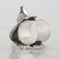 Silver Holloware, American:Napkin Rings, AN AMERICAN FIGURAL SILVER PLATE NAPKIN RING. PairpointManufacturing Co., New Bedford, Massachusetts, circa 1865. Marks:...