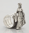 Silver Holloware, American:Napkin Rings, AN AMERICAN FIGURAL SILVER PLATE NAPKIN RING. Derby Silver Co.,Derby (Birmingham), Connecticut, circa 1860. Marks: DERBY...