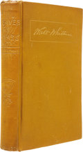 Books:Fiction, Walt Whitman. Leaves of Grass. Boston: James R. Osgood andCompany, 1881-82....