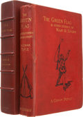 Books:First Editions, Arthur Conan Doyle. The Green Flag and Other Stories of War andSport. London: Smith, Elder & Co., 1900. First E...
