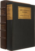 Books:First Editions, Ernest Hemingway. Men Without Women. New York: CharlesScribner's Sons, 1927. . First edition, first printing....