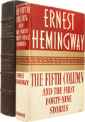 Books:First Editions, Ernest Hemingway. The Fifth Column and the First Forty-NineStories. New York: Charles Scribner's Sons, 1938.. ...