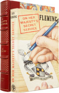 Books:First Editions, Ian Fleming. On Her Majesty's Secret Service. London:Jonathan Cape, [1963].. First edition. Inscribed by Fl...